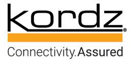 Kordz logo black orange connectivity assure cdl man web